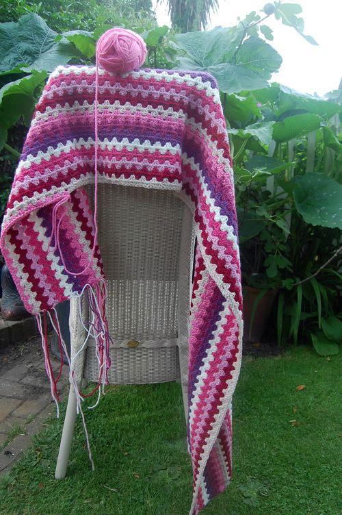 Sophie's Blanket on Wells chair