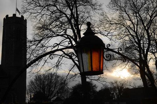 Lantern over gate at Rollesby Church