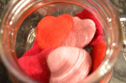 Jar of Felt Hearts