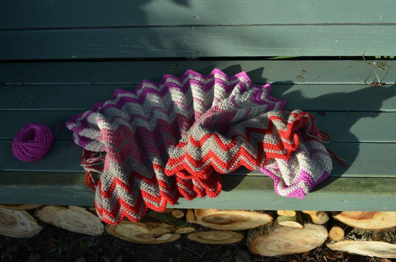 Pure Wool Zig Zag Blanket